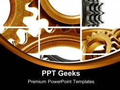 Gears Composition Industrial PowerPoint Templates And PowerPoint Backgrounds 0411