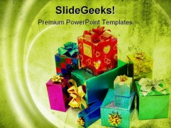 Gifts Holidays PowerPoint Template 1110