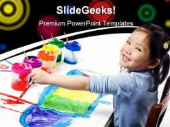 Girl Painting Education PowerPoint Backgrounds And Templates 1210