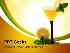 Glass With Cocktail Health PowerPoint Templates And PowerPoint Backgrounds 0411