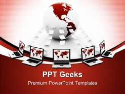 Global Computer Network Communication PowerPoint Templates And PowerPoint Backgrounds 0411
