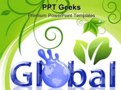 Global Concept Earth PowerPoint Templates And PowerPoint Backgrounds 0411