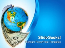 Globe And Americana Money PowerPoint Backgrounds And Templates 1210