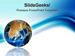 Globe Wave Global PowerPoint Template 0810