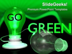 Go Green Earth PowerPoint Template 0810