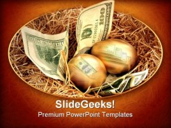 Golden Eggs Money PowerPoint Template 0510