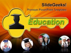 Graduating Education PowerPoint Backgrounds And Templates 1210