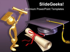 Graduation Diploma01 Education PowerPoint Backgrounds And Templates 1210