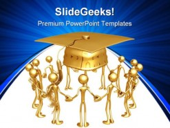 Graduation Group People PowerPoint Backgrounds And Templates 1210