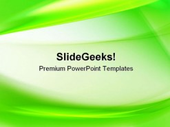 Green Abstract PowerPoint Template 0910