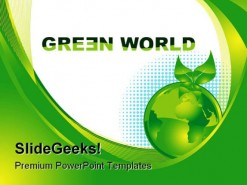 Green World Enviroment PowerPoint Template 0910