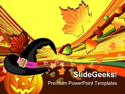 Halloween Autumn Abstract Beauty PowerPoint Template 1010