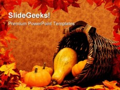 Halloween Nature PowerPoint Template 0610