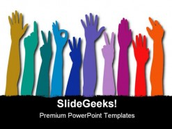 Hands Of All Races Business PowerPoint Background And Template 1210