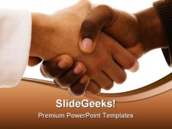 Handshake Business PowerPoint Template 0910
