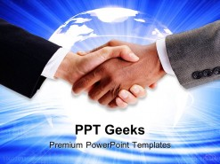 Handshake Business PowerPoint Templates And PowerPoint Backgrounds 0411