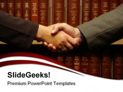 Handshake People Business PowerPoint Template 1110