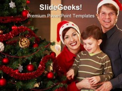 Happy Christmas Family PowerPoint Backgrounds And Templates 1210