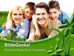 Happy Family People PowerPoint Background And Template 1210