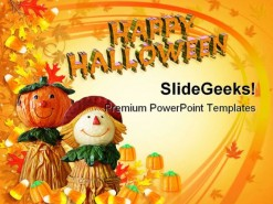 Happy Halloween Nature PowerPoint Template 1110