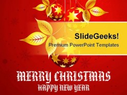 Happy New Year Holidays PowerPoint Template 1010