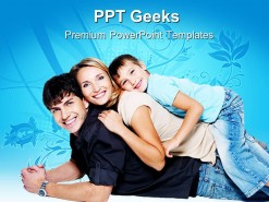 Happy Young Family PowerPoint Templates And PowerPoint Backgrounds 0411