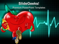 Healthy Heart Science PowerPoint Template 0610