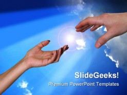 Helping Hand Religion PowerPoint Template 0610