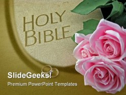 Holy Bible Religion PowerPoint Template 0610