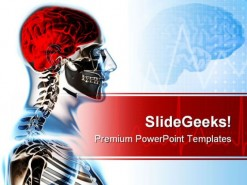 Human Skeleton Science PowerPoint Template 0610