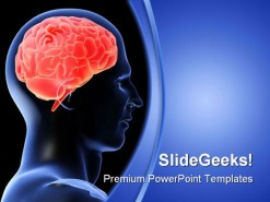 Humanbrain Medical PowerPoint Template 1110