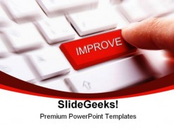 Improve Keyboard Key Business PowerPoint Backgrounds And Templates 1210