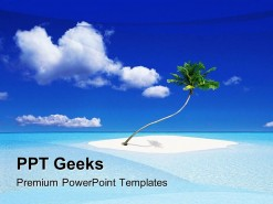 Island Beach PowerPoint Templates And PowerPoint Backgrounds 0411