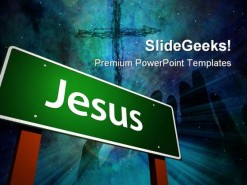 Jesus Religion PowerPoint Background And Template 1210