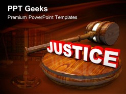 Justice Law PowerPoint Templates And PowerPoint Backgrounds 0411