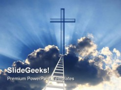 Ladder To God Religion PowerPoint Template 0610