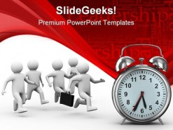 Leadership And Time Concept Business PowerPoint Backgrounds And Templates 1210