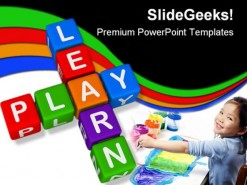 Learn Play Education PowerPoint Template 1010