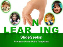 Learning Education PowerPoint Template 1010