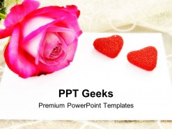 Love Letter Rose Wedding PowerPoint Templates And PowerPoint Backgrounds 0411