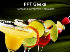 Margaritas Food PowerPoint Templates And PowerPoint Backgrounds 0411