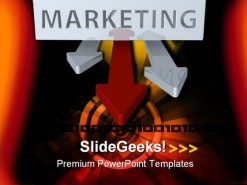 Marketing Target PowerPoint Template 0610