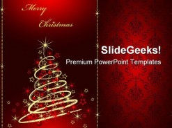 Merry Christmas01 Festival PowerPoint Backgrounds And Templates 1210