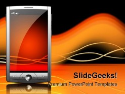 Mobile Internet PowerPoint Template 0810