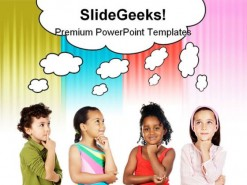 Multiethnic Group Children PowerPoint Backgrounds And Templates 1210