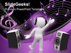 Music People PowerPoint Template 0610