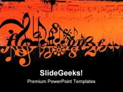 Music Symbols PowerPoint Template 0910
