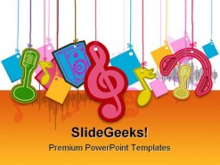 Musical Shapes Music PowerPoint Template 0910