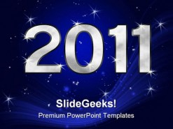New Year01 2011 Holidays PowerPoint Template 1010