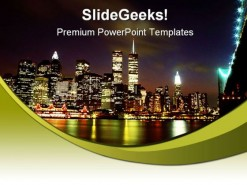 New York Skyline Beauty PowerPoint Background And Template 1210